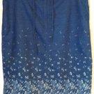 LIZWEAR LIZ CLAIBORNE Knee-Length Blue Floral Prints DENIM Skirt size 12 *NWOT*