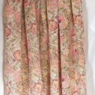 SK & COMPANY Long Ivory Pink Green SILK Floral Prints Skirt size 10 *NWOT*
