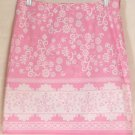 SO... SO REAL SO RIGHT Above-Knee Pink & White Print Skirt size 5