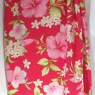 TALBOTS Long Rose Pink Floral Prints PURE SILK Faux Wrap Skirt size 16P