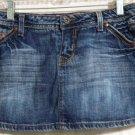 PARIS BLUES Blue DISTRESSED DENIM Macro Mini Skirt size 3