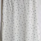 EXACT CHANGE Mid-Calf Ivory Blue Floral Prints SEERSUCKER Column Skirt size 7