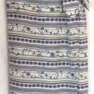 BRIDGETOWN COLLECTION Long Ivory Lavender Blue Floral WRAP SILK Skirt size S