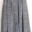 RUSS Mid-Calf Navy Blue White Red Floral BUTTON DOWN A-Line Skirt size 10P