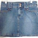 BUFFALO by DAVID BITTON Mid-Thigh Blue STRETCH DENIM Mini Skirt size 26