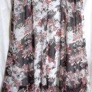 STUDIO 1940 Long White Black Red Floral PANELED Skirt size 30/32W *NWOT*