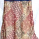 SPEECHLESS Knee-Length Beige Red Brown Print CONTRAST Skirt size 12.5 *NWOT*