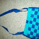 Small Teal and Navy Woven Bag