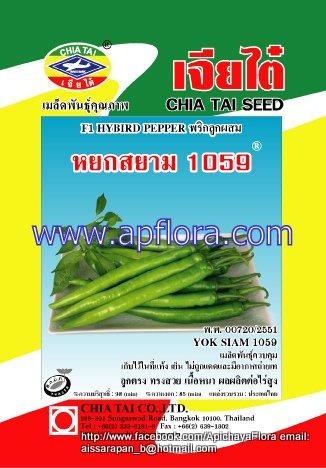 Apichaya Flora Vegetable seeds Pepper-Yok Siam1059