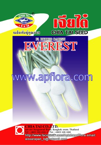 Apichaya Flora Vegetable seeds Radish-Everest