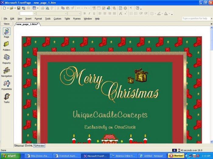 Christmas Stockings Holiday Template