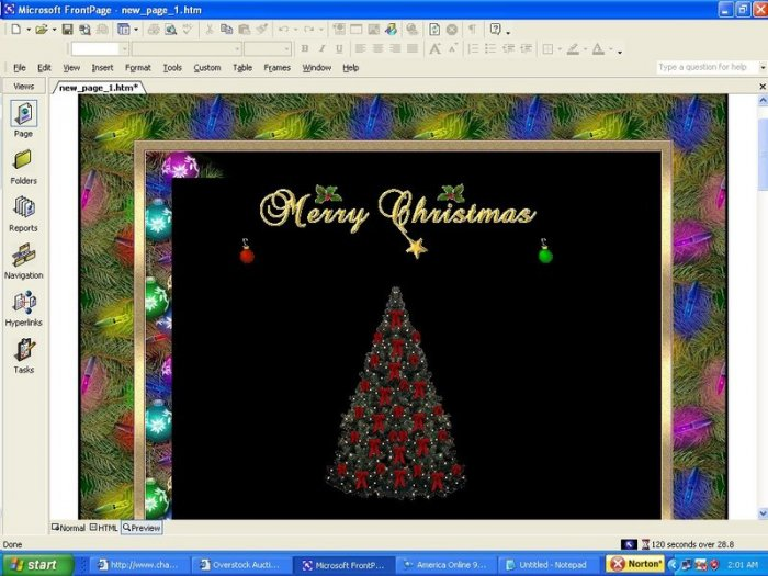 Trim the Tree Holiday Template