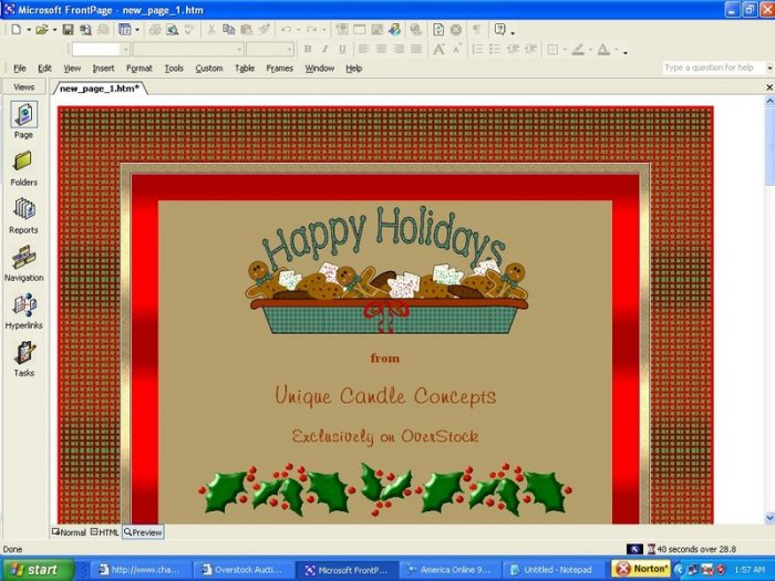 Red Plaid Holiday Template