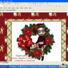 Wreath & Bow Holiday Template