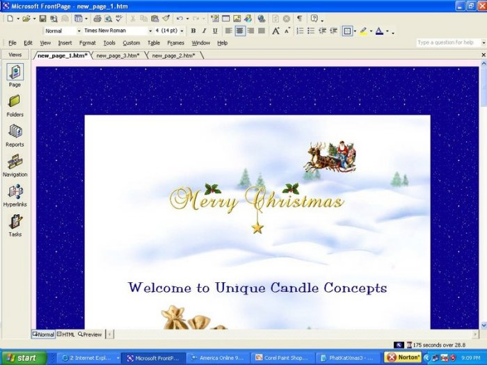 Animated Flying Santa Holiday Template