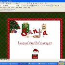 Santa Goodies Holiday Template