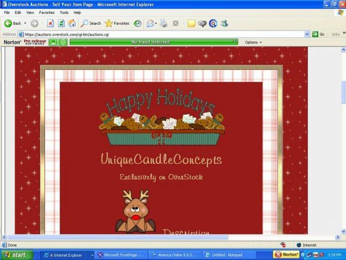Reindeer Red Plaid & Snowflake Holiday Template