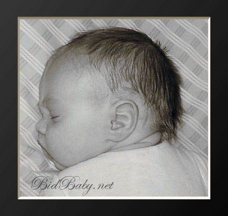 Newborn Black & White-Framed