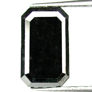 2.05cts Jet black Emerald Cut Natural Loose Diamond!