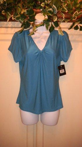 Brand New Ladies's Multi-Color V-Neck Polka Dot Top