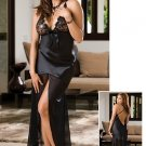 Satin Gown Set with Sequin Lace Cups Size: Small