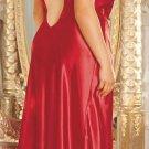 Shirley - Satin Gown with Rhinestone Straps size 1X, 2X