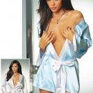 Satin Reversible Robe. Size Small