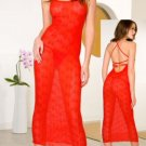 Seamless Bow Lace Gown with Lace Up Back. One Size