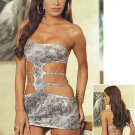 Cobra Print Dress Set with Side Cutouts Sizes S,M,L