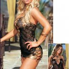 Black Spider Mini Dress with Snake Skin Look Trim Size S,M,L, 1X/2X, 3X/4X