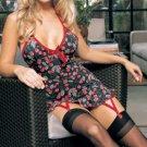 Leg Avenue - Lycra Halter Cherry Print Mini Dress Size M/L