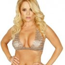 Chain Mail Halter Bra Top. One Size.