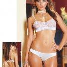 Satin & Lace Bra & Panty Set. Size S,M,L.
