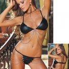 Bikini Set with Draped Chain Accents. Size L