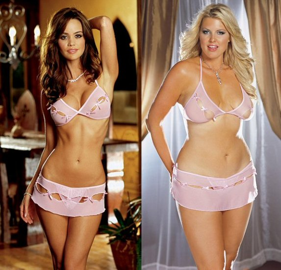 Bra and Skirt Set with Keyhole Cutout One Size, Queen Size.