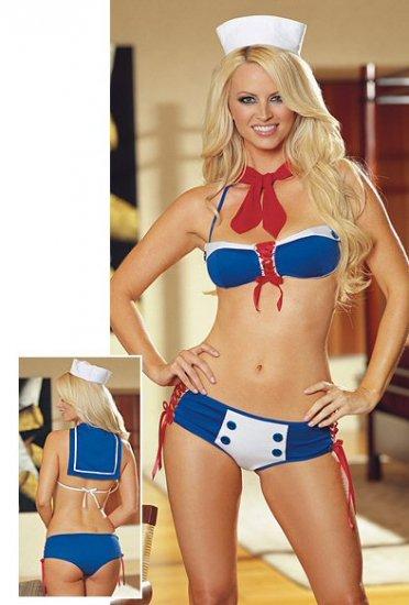 Sailor Themed Bikini Costume. One Size.
