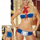 Sailor Themed Bikini Costume. One Size.