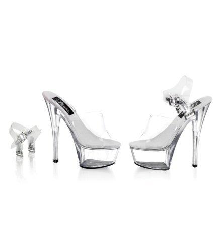 """6"""" Spike Heel Platform Sandal. Size 5-14"""