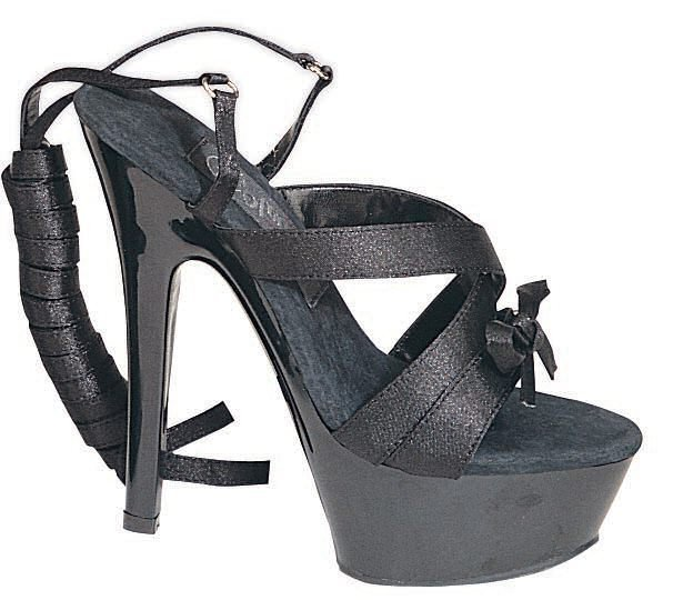 Women's Open Toe Satin Sandal with Ankle Wrap and Bow