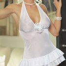 Chiffon Babydoll Set with Sequin Flower Applique