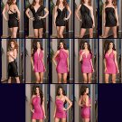 DG - Microfiber/Foil Printed Versatile Halter Dress w/Matching Thong - Each 2-Piece Set