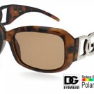 DG Eyewear Brown Polarized SUNGLASSES w/Micro Fiber Bag