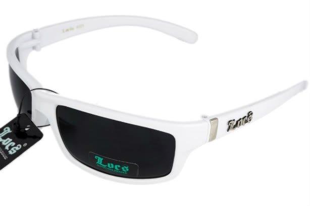 LOCS  White JE5209W SUNGLASSES Free Micro Fiber Bag