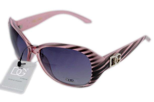 DG Eyewear Pink 555 SUNGLASSES w/Micro Fiber Bag