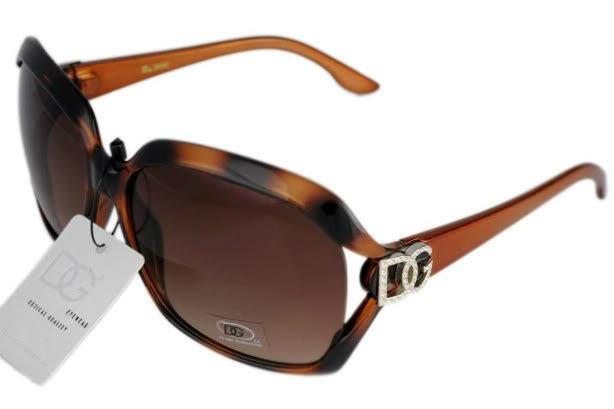 DG Eyewear Brown 595 Sunglasses w/Micro Fiber Bag