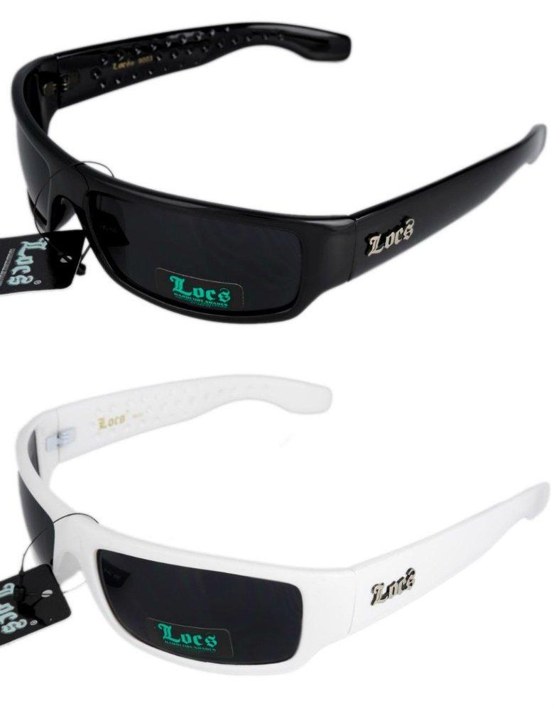 2 Locs  Sunglasses 1 Blk 1 Wht +2 Free Micro Fiber Bags