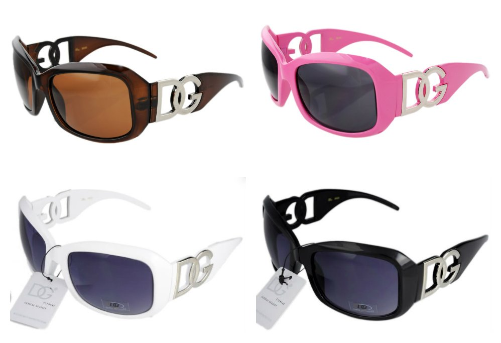 4 DG Eyewear Sunglasses1- Brown,Blaclk,Pink,White
