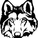 """4x4"""" WOLF HEAD wildlife Sticker"""