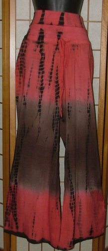 Time Warp! NWT Funky Hippie Tie Dye Pants Choice! Red 2 Blk