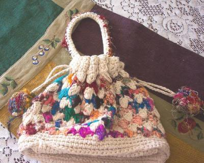 Darling NWT Crochet Hippie Grannie Bag